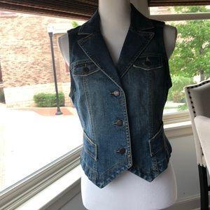 Ann Taylor Loft Jean vest